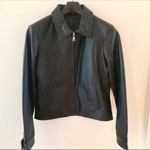 Dickies Leather Jacket; Black; Size M